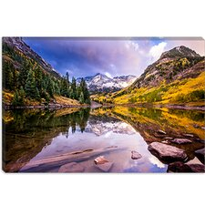 "<strong>iCanvasArt</strong> ""Maroon Bells"" Cancas Wall Art by Dan Ballard"