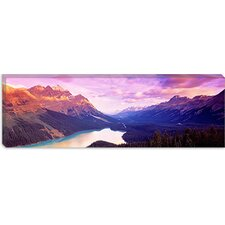 <strong>iCanvasArt</strong> Peyto Lake, Alberta, Canada Canvas Wall Art