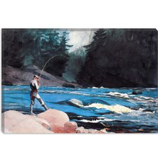 """Ouananiche, Lake St John"" Canvas Wall Art by Winslow Homer"