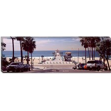 <strong>iCanvasArt</strong> Manhattan Beach Pier, Manhattan Beach, California Canvas Wall Art
