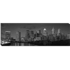 <strong>iCanvasArt</strong> Philadelphia Panoramic Skyline Cityscape Canvas Wall Art