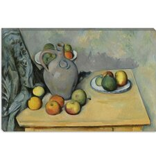 """Pichet Et Fruits Sur Une Table 1893-1894"" Canvas Wall Art by Paul Cezanne"