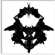 <strong>iCanvasArt</strong> Dancing Butterfly Inkblots Modern Canvas Wall Art