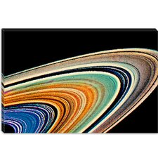 <strong>iCanvasArt</strong> Rings of Saturn Modern Canvas Wall Art