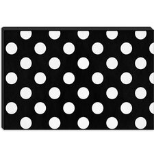 <strong>iCanvasArt</strong> Polka Dots Modern Canvas Wall Art