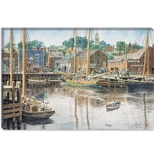"<strong>iCanvasArt</strong> ""Old Gloucester"" Canvas Wall Art by Stanton Manolakas"