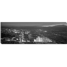 <strong>iCanvasArt</strong> Las Vegas Skyline Cityscape Panoramic Canvas Wall Art