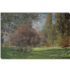 "<strong>iCanvasArt</strong> ""Landscape, the Parc Monceau 1876"" Canvas Wall Art by Claude Monet"