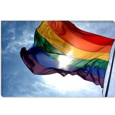 <strong>iCanvasArt</strong> Rainbow Flag Lgbt Gay Pride Photographic Canvas Wall Art