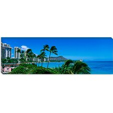 <strong>iCanvasArt</strong> Waikiki Beach, Oahu, Hawaii Canvas Wall Art