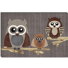 "<strong>iCanvasArt</strong> ""Owls"" Canvas Wall Art by Erin Clark"