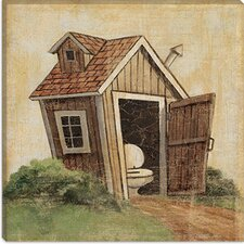 "<strong>iCanvasArt</strong> ""Outhouse IV"" Canvas Wall Art by John Zaccheo"