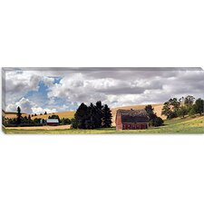<strong>iCanvasArt</strong> Old Barn under Cloudy Sky, Palouse, Washington State Canvas Wall Art