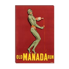 <strong>iCanvasArt</strong> Old Manada Rum Advertising Vintage Poster