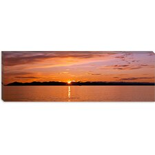 <strong>iCanvasArt</strong> Ocean at Sunset, Inside Passage, Alaska Canvas Wall Art
