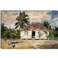 """Native Huts, Nassau"" Canvas Wall Art by Winslow Homer"