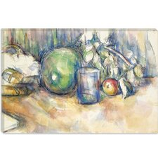 """Nature Morte Au Melon Vert 1902-1906"" Canvas Wall Art by Paul Cezanne"