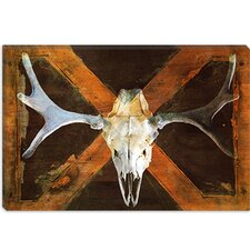 <strong>iCanvasArt</strong> Moose Skull Canvas Wall Art