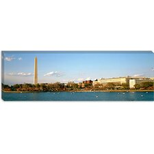 <strong>iCanvasArt</strong> Washington Monument, Potomac River, Washington, D.C Canvas Wall Art