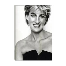 <strong>iCanvasArt</strong> Princess Diana Portrait Canvas Wall Art