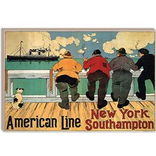<strong>iCanvasArt</strong> New York Southampton (American Line) Advertising Vintage Poster