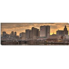 <strong>iCanvasArt</strong> Newark Panoramic Skyline Cityscape Canvas Wall Art