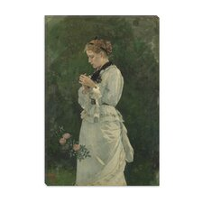 """Portrait of a Lady 1875"" Canvas Wall Art by Winslow Homer"