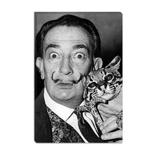 "<strong>iCanvasArt</strong> ""Portrait of Salvador Dali"" Canvas Wall Art by Roger Higgins"