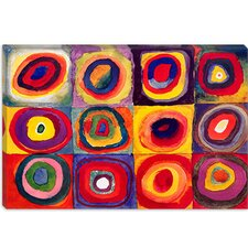 """Squares with Concentric Circles"" Canvas Wall Art by Wassily Kandinsky"