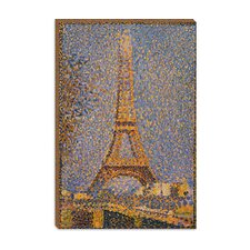 "<strong>iCanvasArt</strong> ""The Eiffel Tower"" Canvas Wall Art by Georges Seurat"