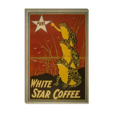 White Star Coffee Brand Label Vintage Poster