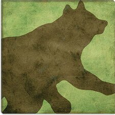 "<strong>iCanvasArt</strong> ""Winter Lodge (Bear)"" Canvas Wall Art by Color Bakery"
