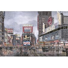 "<strong>iCanvasArt</strong> ""Times Square: New York"" Canvas Wall Art by Stanton Manolakas"