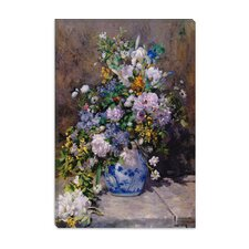 """Spring Bouque (Grande Vaso Di Fiori)"" Canvas Wall Art by Auguste Renoir"