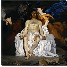 "<strong>iCanvasArt</strong> ""The Dead Christ with Angels"" Canvas Wall Art by Edouard Manet"