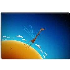 <strong>iCanvasArt</strong> The Flying Giraffe Children Canvas Wall Art