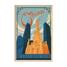 <strong>iCanvasArt</strong> The Water Tower - Chicago, Illinois Canvas Wall Art