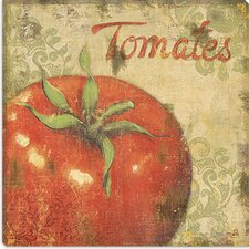 "<strong>iCanvasArt</strong> ""Tomates"" Canvas Wall Art by Daphne Brissonnet"