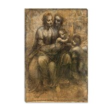 """The Virgin and Child with Saint Anne and Saint John the Baptist"" Canvas Wall Art by Leonardo Da Vinci"