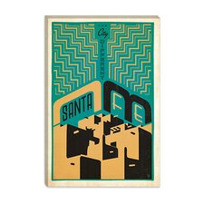 <strong>iCanvasArt</strong> The City Different - Santa Fe Canvas Wall Art