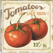 "<strong>iCanvasArt</strong> ""Tomatoes on Sale Now (on Special I)"" Canvas Wall Art by Lisa Audit"