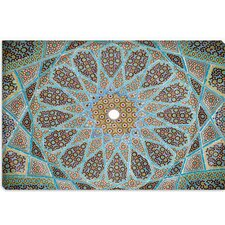 <strong>iCanvasArt</strong> Tomb of Hafez Mosaic Photographic Canvas Wall Art