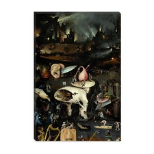 "<strong>iCanvasArt</strong> ""Top of Right Panel from the Garden of Earthly Delights"" Canvas Wall Art by Hieronymus Bosch"