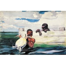 """The Turtle Pound 1898"" Canvas Wall Art by Winslow Homer"