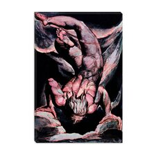 "<strong>iCanvasArt</strong> ""The First Book of Urizen, Man Floating Upside Down"" Canvas Wall Art by William Blake"