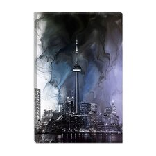 <strong>iCanvasArt</strong> Toronto, CN Tower Canada #2 Canvas Wall Art