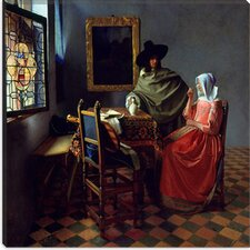 "<strong>iCanvasArt</strong> ""The Wine Glass"" Canvas Wall Art by Johannes Vermeer"