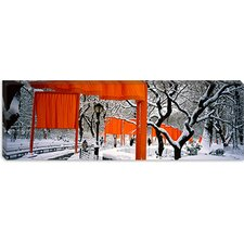 <strong>iCanvasArt</strong> New York, New York City, Central Park, People Walking in the The Gates Canvas Wall Art