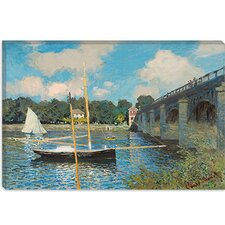 """The Bridge at Argenteuil"" Canvas Wall Art by Claude Monet"