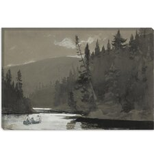 """Three Men in a Canoe 1895"" Canvas Wall Art by Winslow Homer"